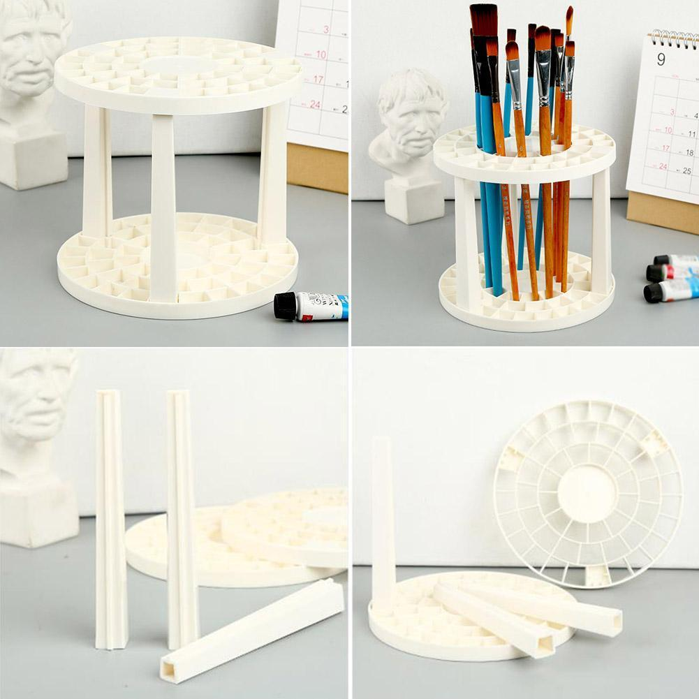 Paint Brush Pen Holder 49 Holes Pen Rack Display Stand Holder Support Pen Painting Art Watercolor Supplies Brush Holder G1H3