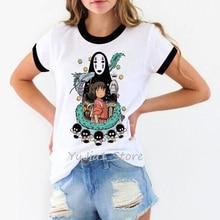 totoro Spirit Away t shirt women Studio Ghibli femme Japanese Anime cartoon tshirt t-shirt Miyazaki Hayao clothes female kawaii цена и фото