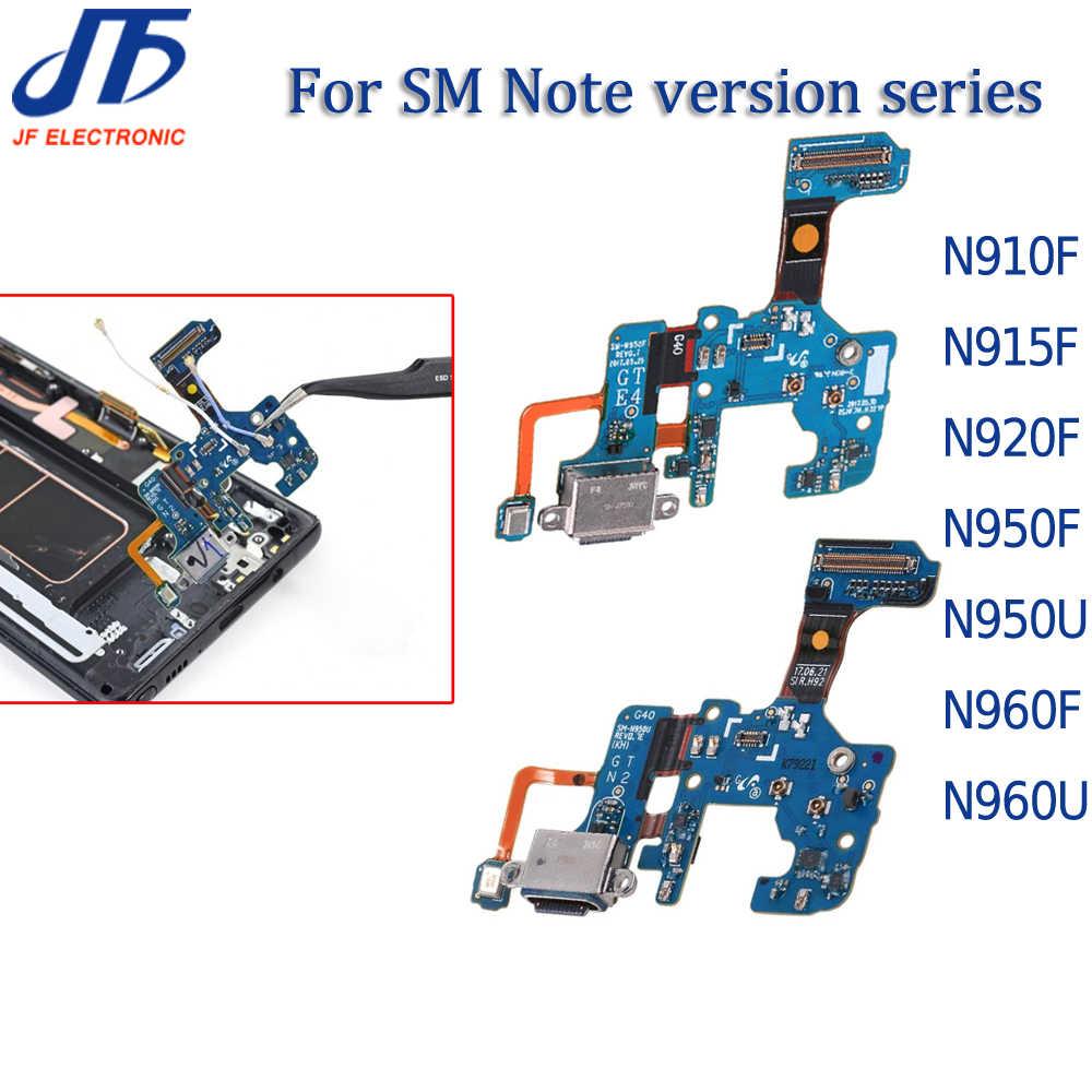 10 Pcs Pengisian Dock Konektor USB Charger Port FLEX Kabel untuk CATATAN 8 9 N910 N915 N920 N950U N950F N960F U