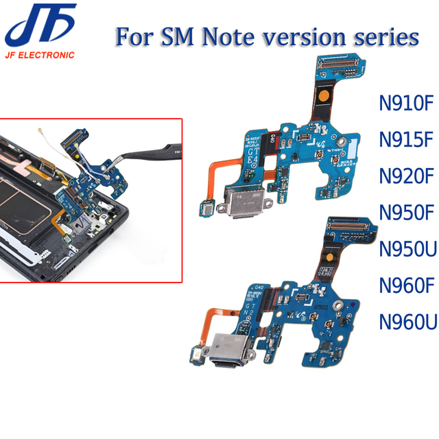 10pcs טעינת Dock מחבר USB מטען נמל להגמיש כבלים עבור הערה 8 9 N910 N915 N920 N950U N950F N960F U