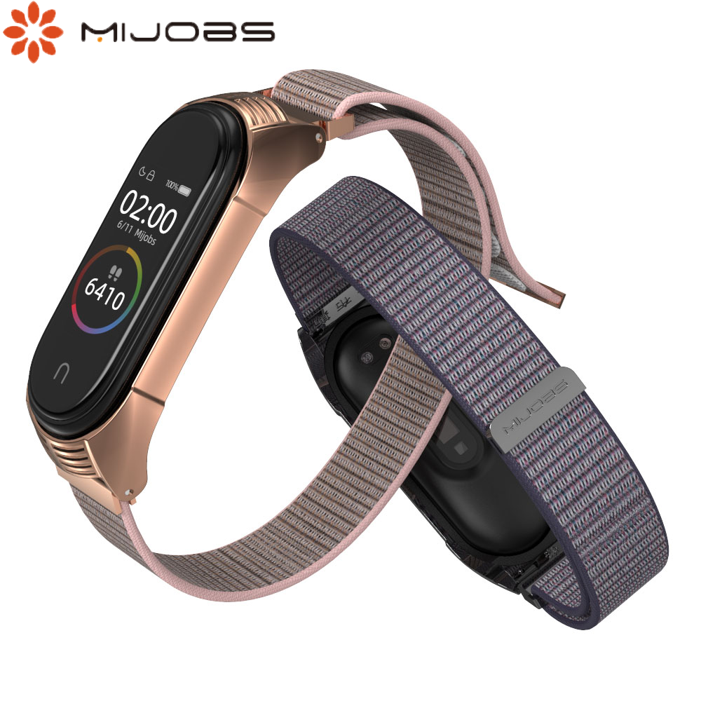 Mi Band 4 Strap For Xiaomi Miband 4 Bracelet Replaceable Smart Watch Strap Miband Band 4 Nylon Strap Adjustable Length