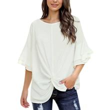 Women's t-shirt O-neck women's casual ladies tops fashion su