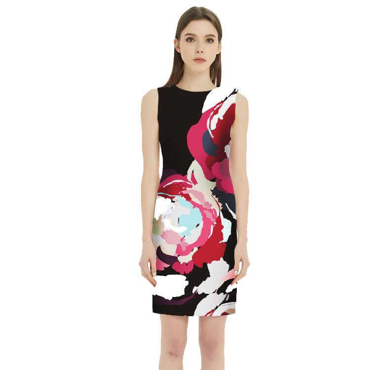 VENFLON женское летнее платье 2019 размера плюс сексуальное облегающее офисное облегающее платье-карандаш женское Повседневное платье размера плюс платья для вечеринок 5XL