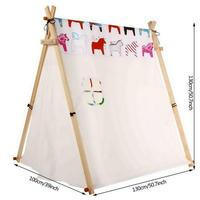 Children Tent Camping Tent Large Canvas Original Teepee Kids Teepee with Grey Indian Play Tent House