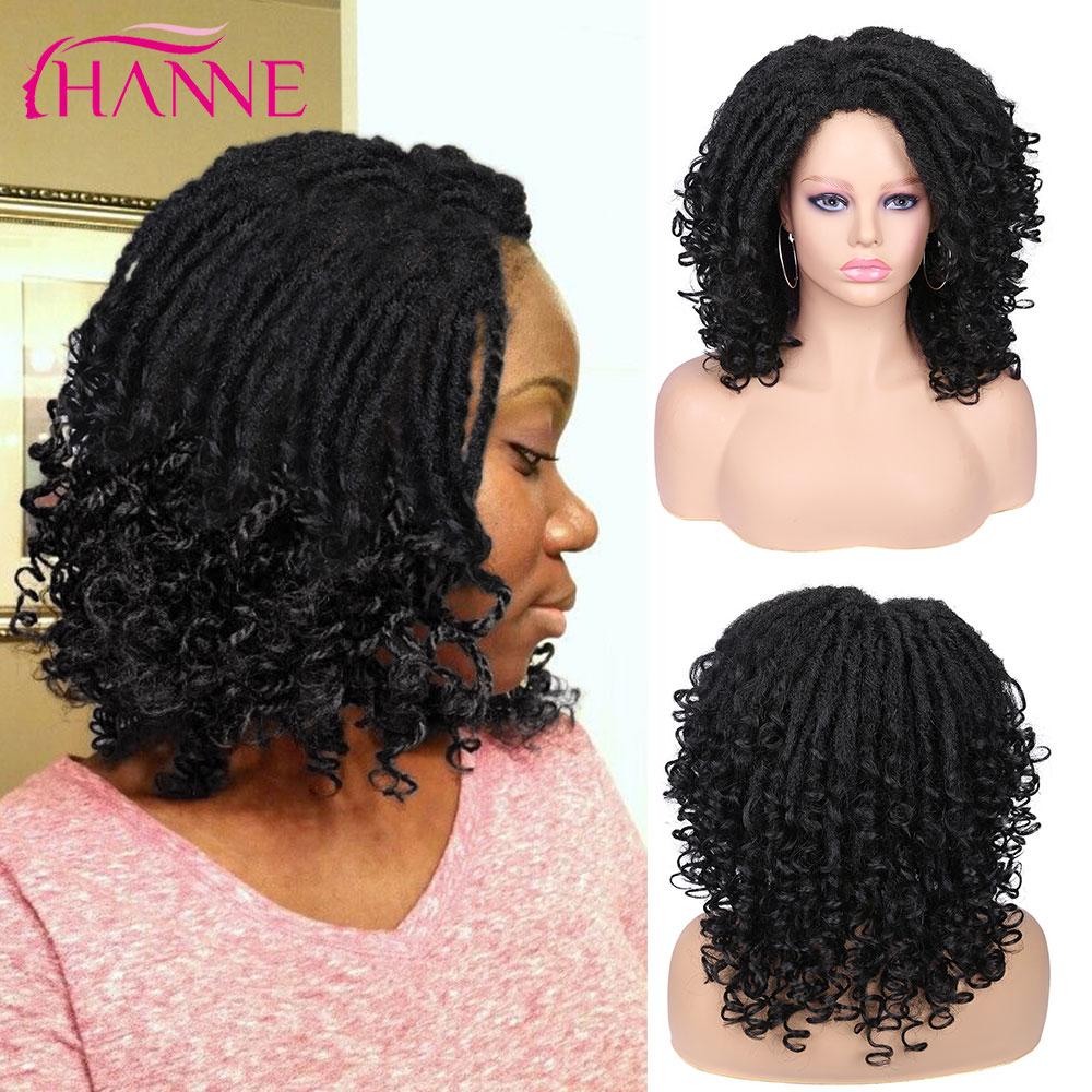 HANNE Black/brown/99J Synthetic Dreadlocks Soft Faux Locs Crochet Hair High Tempeture Fiber  For Black Women Or Men