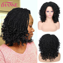 Hanne preto/marrom/99j dreadlocks sintéticos macios faux locs crochê cabelo alta tempeture fibra para preto mulher ou homem