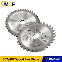 CMCP 30T/40T дисковая пила 1 шт. 4 дюйма TCT пила Лезвие для обработки древесины режущий диск для деревянной пилы режущие диски