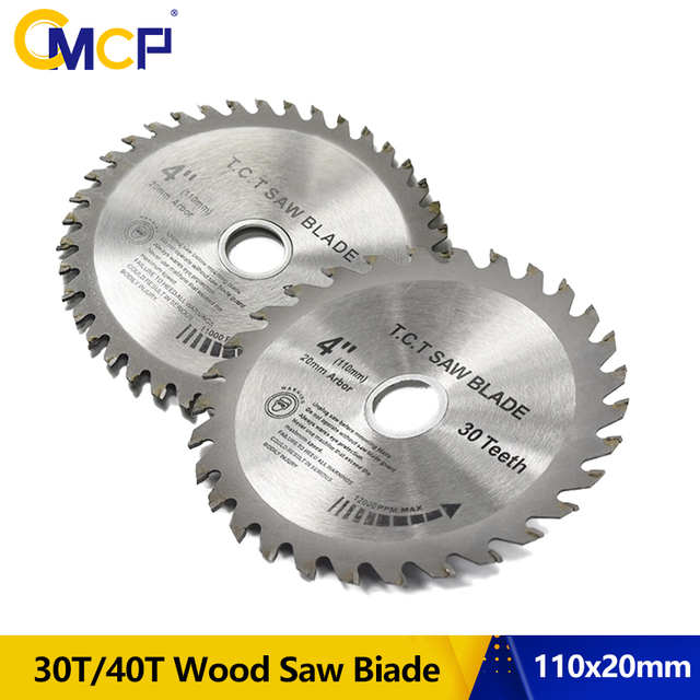 CMCP 30T/40T Circular Saw Blade 1pc 4Inch TCT Saw Blade Woodworking Cutting Disc For Wood Saw Cutting Discs