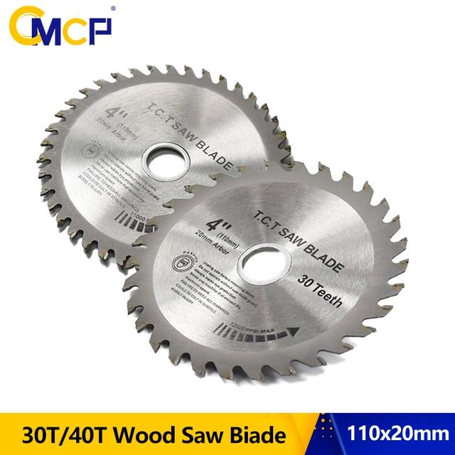 Cmcp 30T/40T Cirkelzaagblad 1Pc 4Inch Tct Zaagblad Houtbewerking Snijden Disc Voor hout Zag Slijpschijven