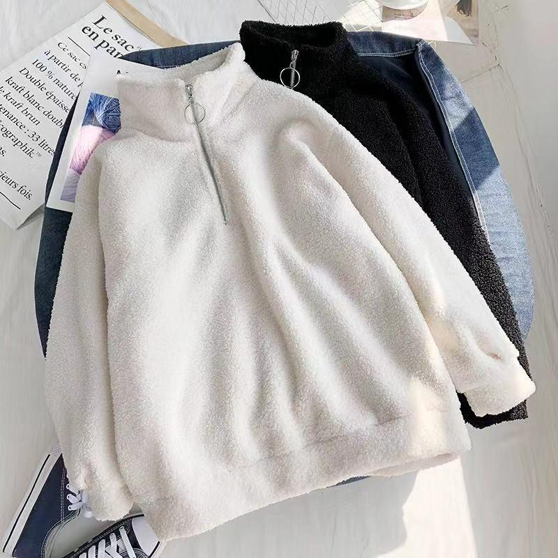 Imitation Lamb Velvet Guard Dress Women Plus Thick Loose Collar 2019 Winter Women's Clothing Ins Jacket Plus Thick Guard Woman
