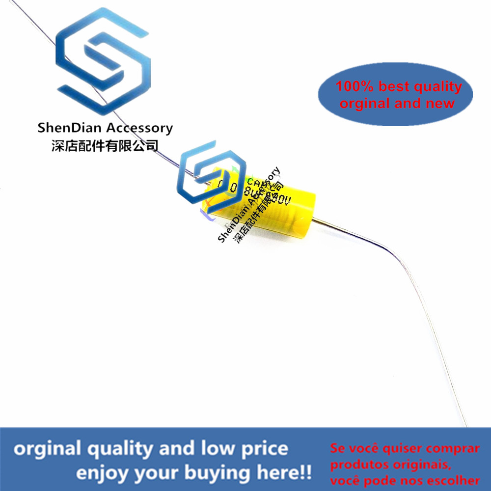 12pcs 630V Fever Electrodeless Copper Foot Audio 0.068uf Yellow Through Heart Axial Cholangio Mechanical Coupling Film Capacitor
