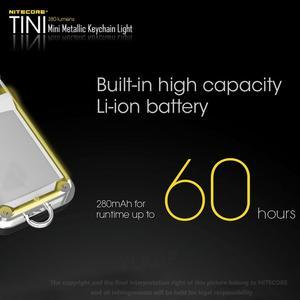 Image 3 - 2018 nowy Nitecore TINI 380 lumenów micro usb charging Mini metaliczny breloczek latarka