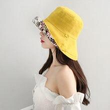 COKK – chapeau Bob pliable en coton, imprimé feuilles, casquette de pêcheur, style coréen, printemps été
