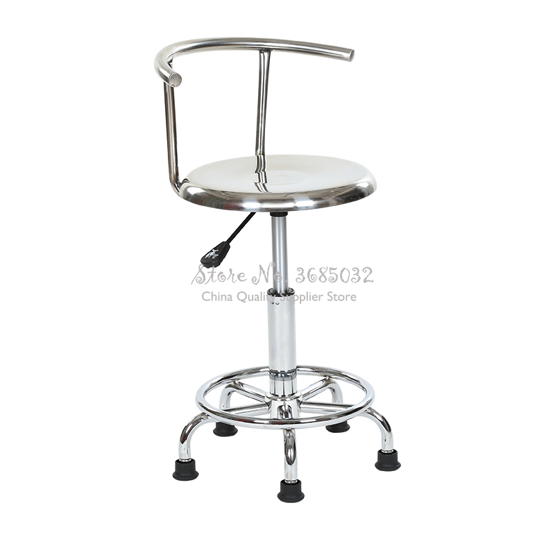 Laboratory Stainless Steel Durable Factory Lifting Stool Dentist Chair PU Foam Anti-static Workshop Stools With Universal Wheel