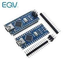משלוח חינם עבור arduino Nano V3.0 בקר ATMEGA328P ATMEGA328 מקורי CH340 + USB כבל