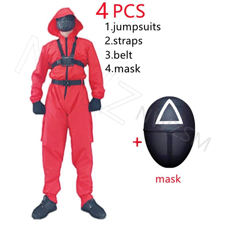 traje festa de halloween redonda seis máscara