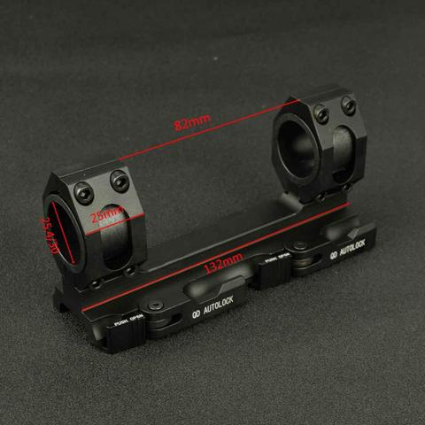 tactical scope mount 25 4mm 30mm tecelao picatinny ferroviario escopo aneis estendido cantilever qd monta