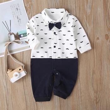 Bawełniane chłopięce dziewczęce Climb ubrania nowonarodzone śpioszki dla niemowląt dżentelmen kombinezon z długim rękawem Cartoon piżamy dziecięce chłopięce tanie i dobre opinie kiddiezoom COTTON CN (pochodzenie) Unisex W wieku 0-6m 7-12m 13-24m baby O-neck Przycisk zadaszone Pajacyki Pełna HA09659