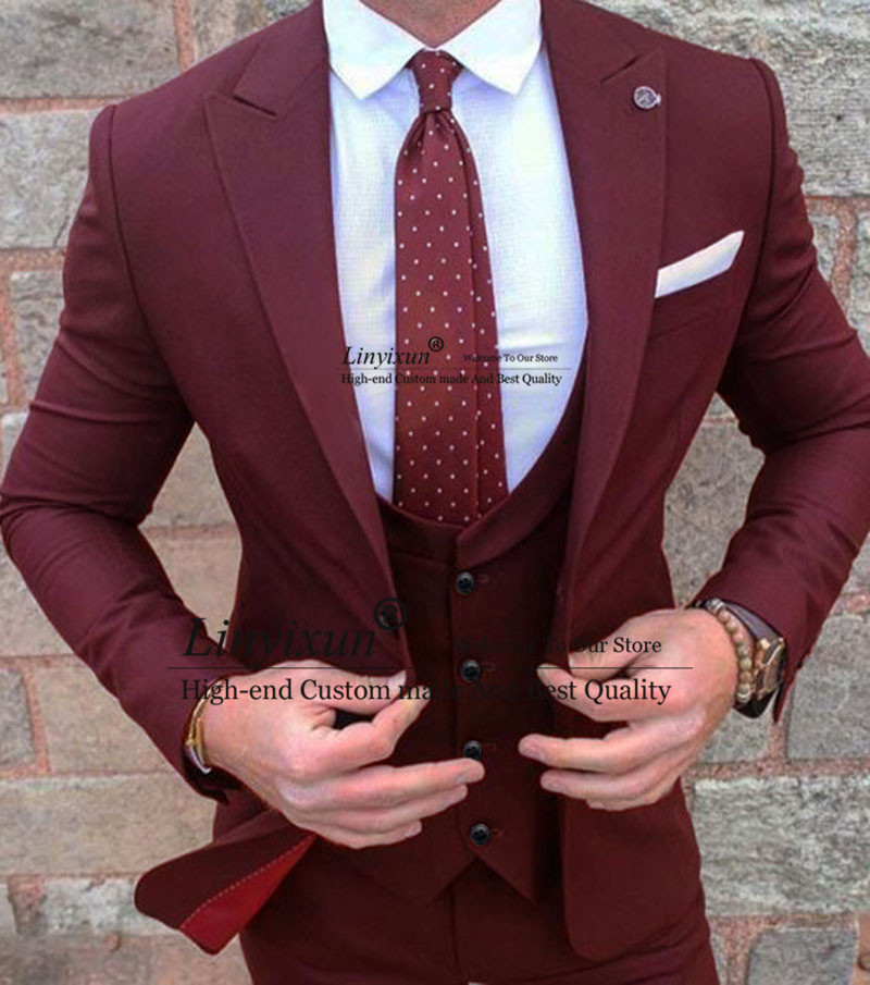 Green Slim Fit Wedding Suits For Men Custom Made Groom Suit Man Blazer Green Jacket With Pants Smooking Formal Blazer