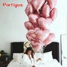 10 шт. 18 дюймов розовое золото красный розовый любовь фольга гелиевые шары в форме сердца свадьба день рождения шары День Святого Валентина Globos поставки