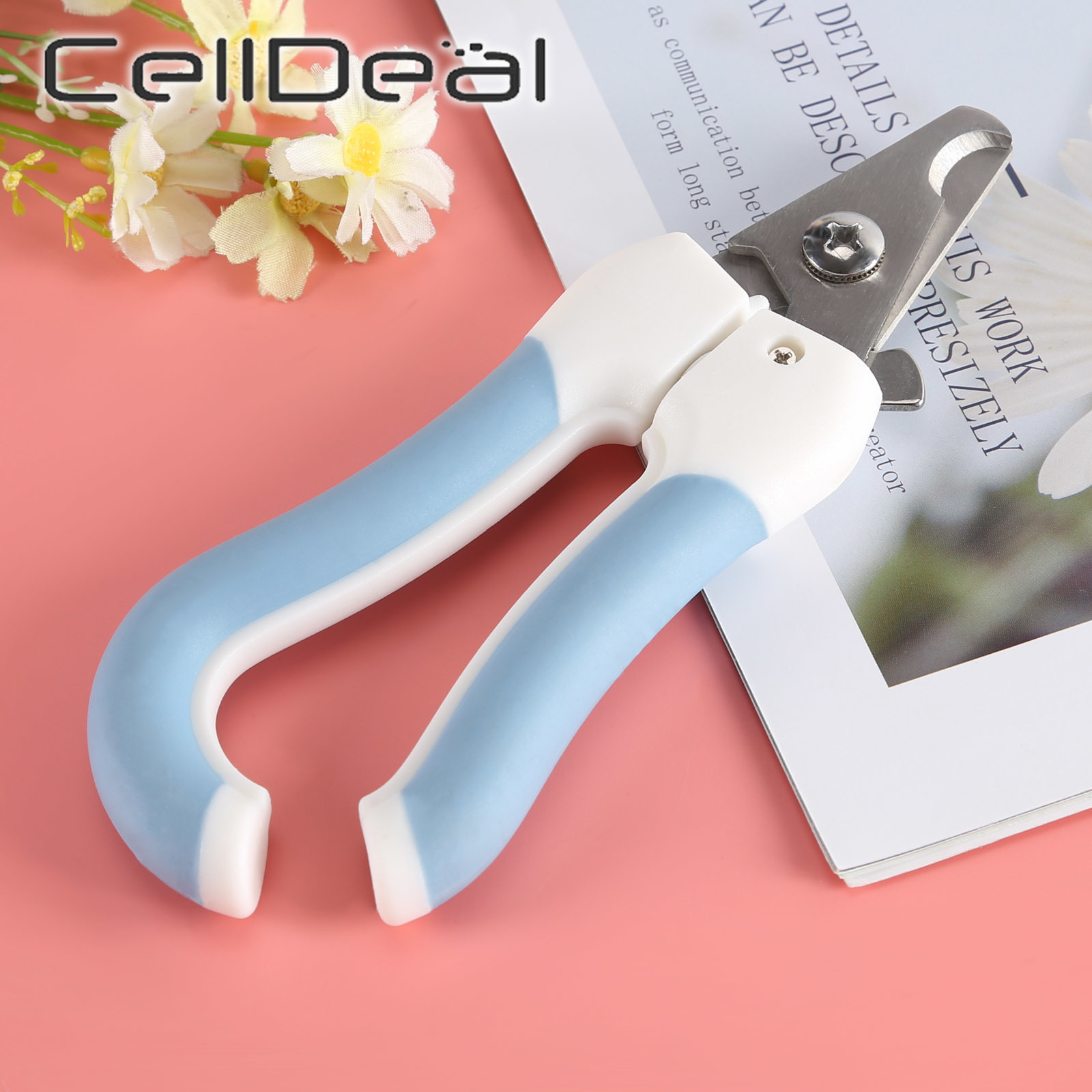 Professional Pet Nail Clippers Dog Cat Stainless Steel Two-color Labor-Saving Nail Clippers Convenient Beauty Cleaning Supplies 5