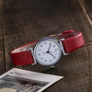 Image 2 - Watch Women Slim Leather Band Analog Quartz Wristwatches Classic Retro Fashion Casual Ladies Clock Relogio Feminino Montre Femme