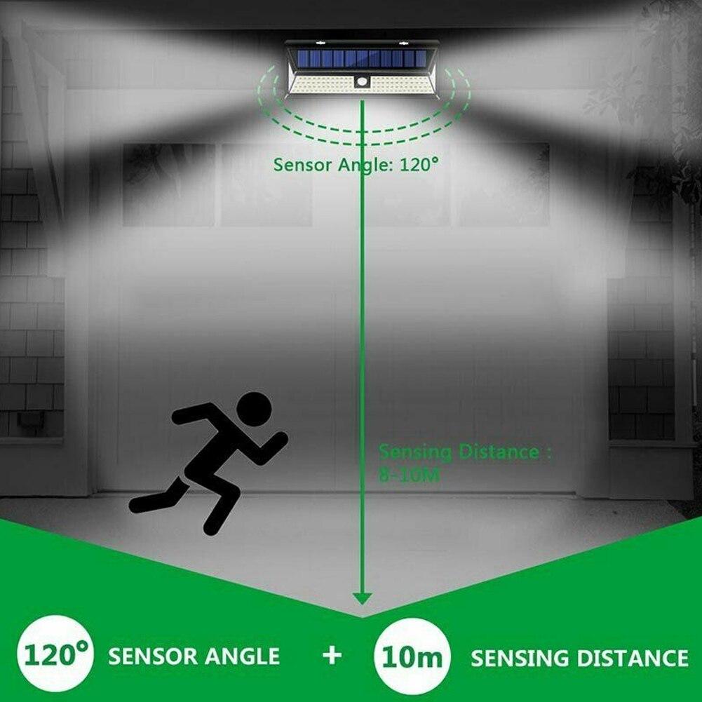 Lampe de sécurité à capteur de mouvement pour applique murale à énergie solaire 118 LEDs pour jardin extérieur L9 #2