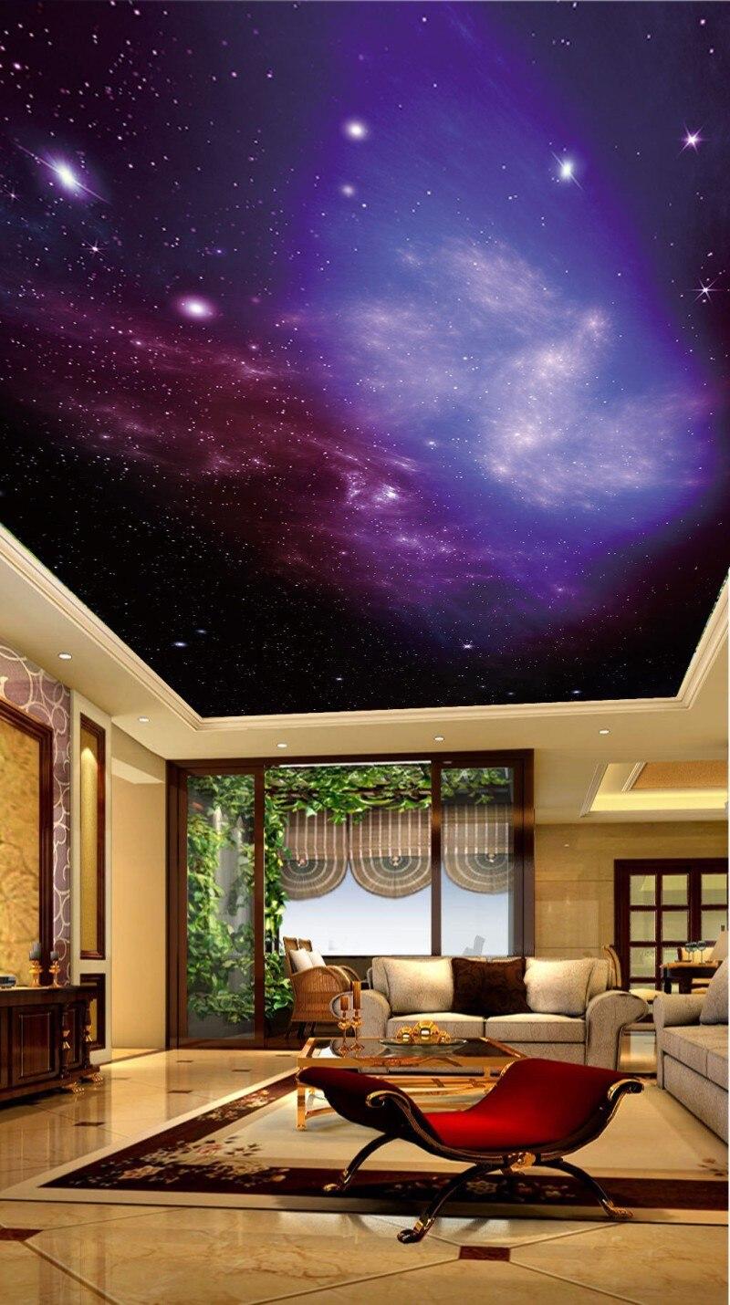 Plafond papier peint Mural De Parede beau ciel étoilé HD grande image plafond peinture fond mur - 4