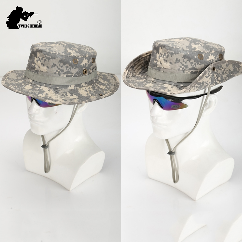 US Army Camouflage BOONIE HAT Thicken Military Tactical Cap Hunting Hiking Climbing Camping MULTICAM HAT 20 Color KA056