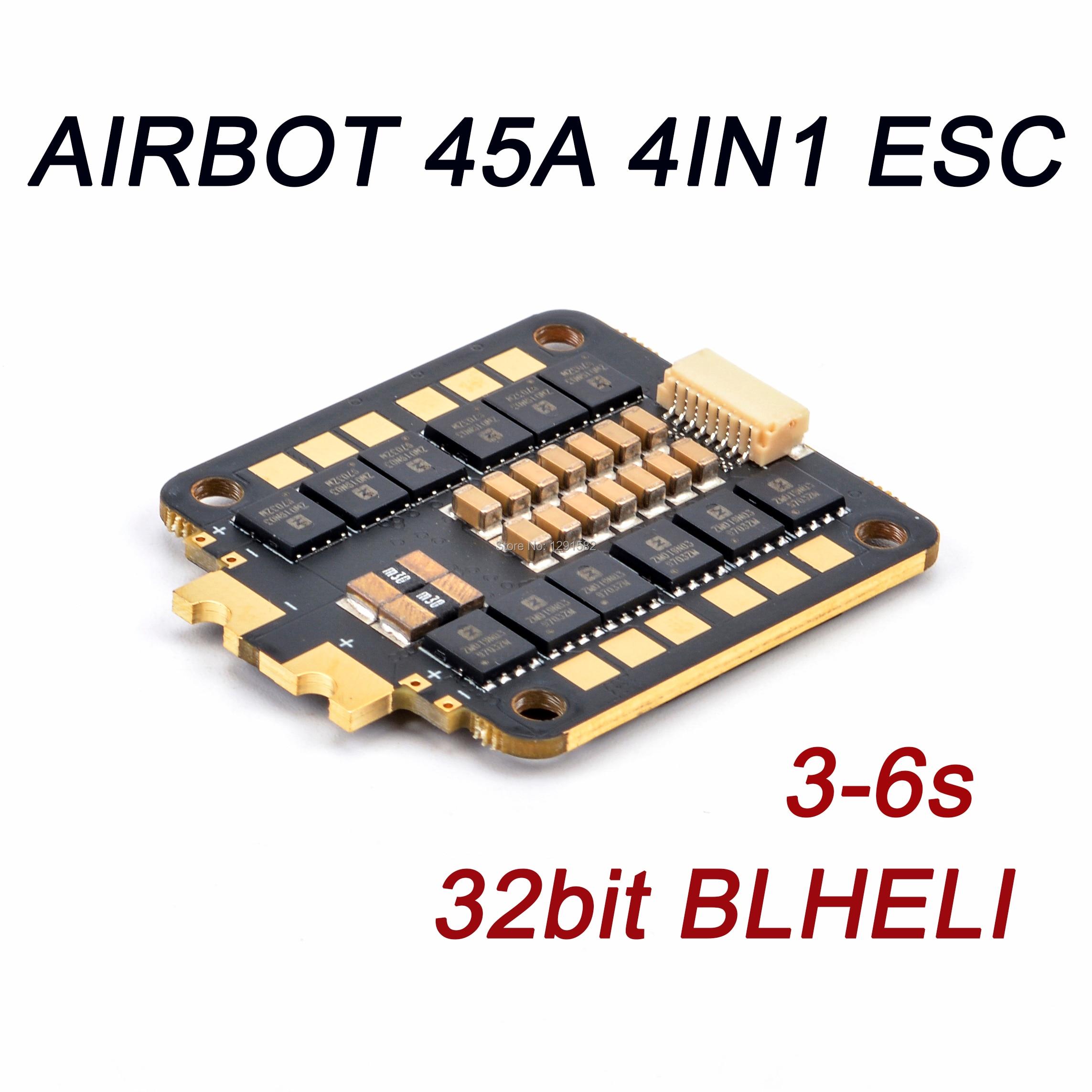 AIRBOT Furling32 45A 4IN1 ESC 3 S 6 S Blheli_32 ESC F3 MCU 108Mhz obsługuje 3 6S dla i fpv zdalnie sterowany dron Quadcopter wyścigi w Części i akcesoria od Zabawki i hobby na  Grupa 1