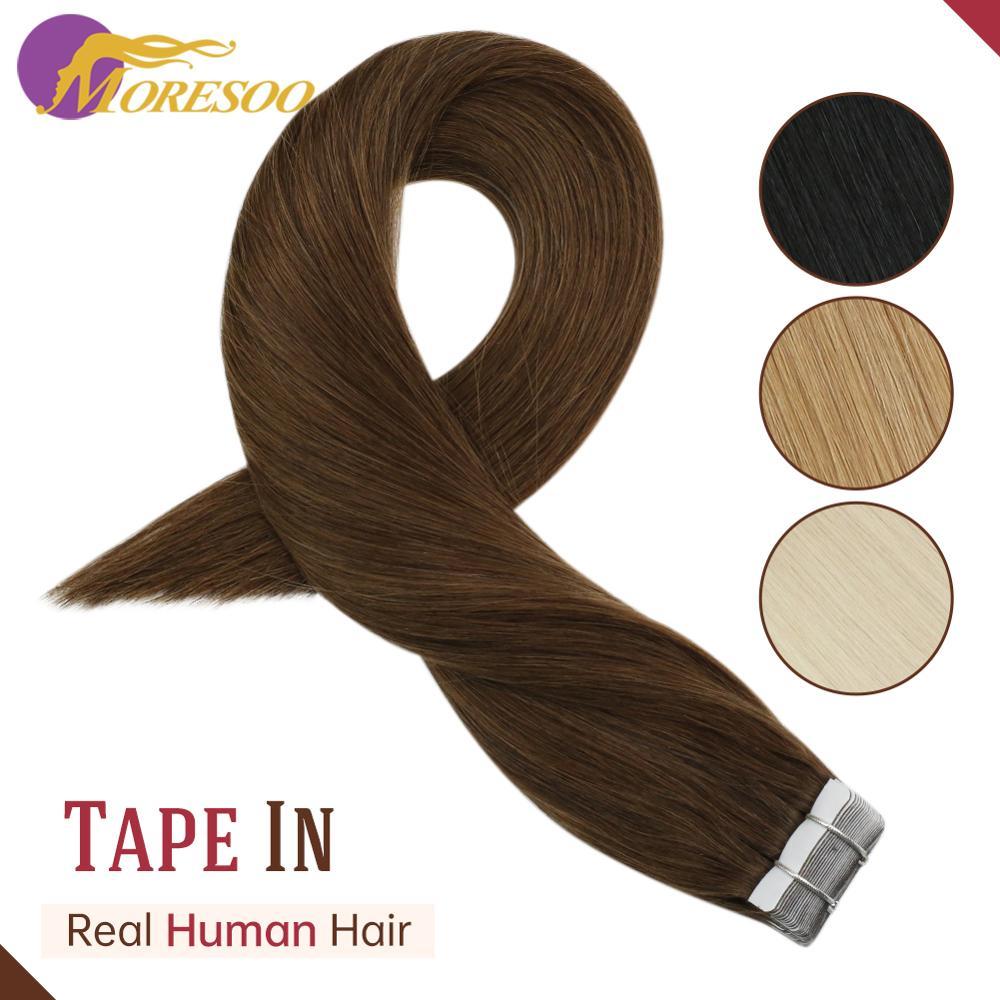 14 cor Máquina de Fita em Extensões Do Cabelo Cabelo Humano Remy Trama Da Pele Do PLUTÔNIO Cor 14-24 Polegada Fita Em Linha Reta extensões de cabelo Cabelo Humano
