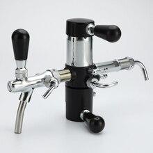 Stainless Steel Beer Bottle Tap De-foaming for PET Bottle with Homebrew Beer Tap Faucet G5/8 Adjustable Beer Faucets Remove Foam