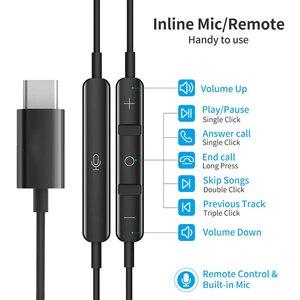 Image 2 - Usb tipo c google chip fones de ouvido magnético esportes estéreo fone com controle com fio para huawei p30 companheiro 20 pro xiaomi 8 samsung
