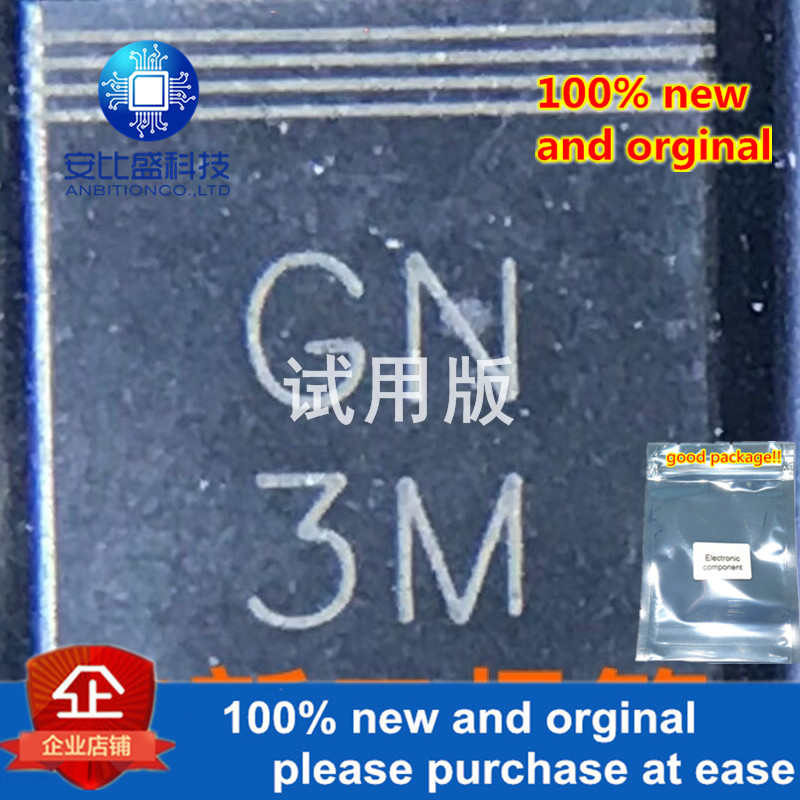 25-50pcs 100% New And Orginal GN3M 3A1000V DO214AB  In Stock