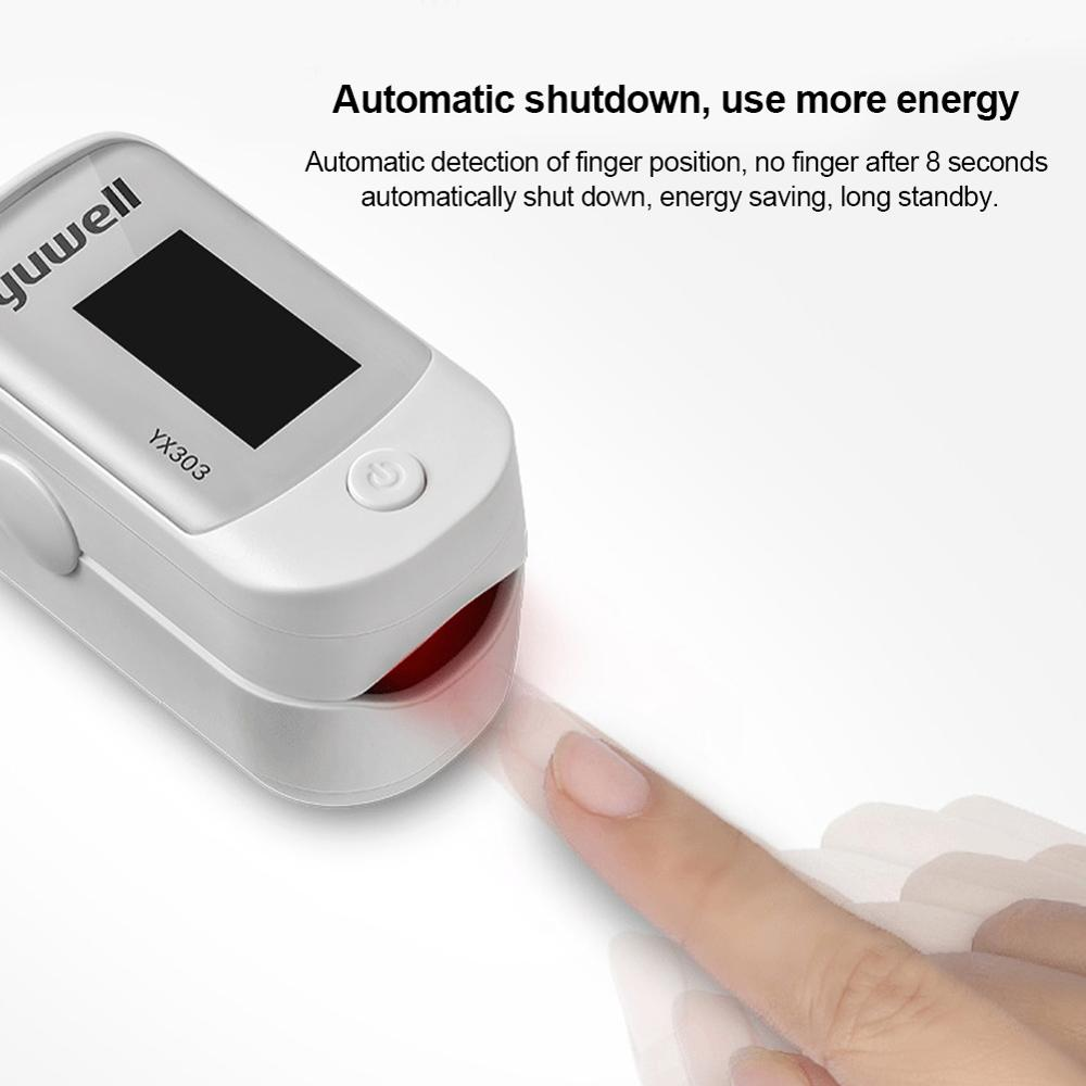 Medical Heart Rate Monitoring Fingertip Pulse Oximeter with OLED Display and Auto Shut Down 1