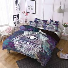 Duvet Cover Home Textile Bedding Gothic Geometry Magic Array Bedding Set 3D Bohemian Style Eye Pattern Comforter/Quilt Duvet(China)