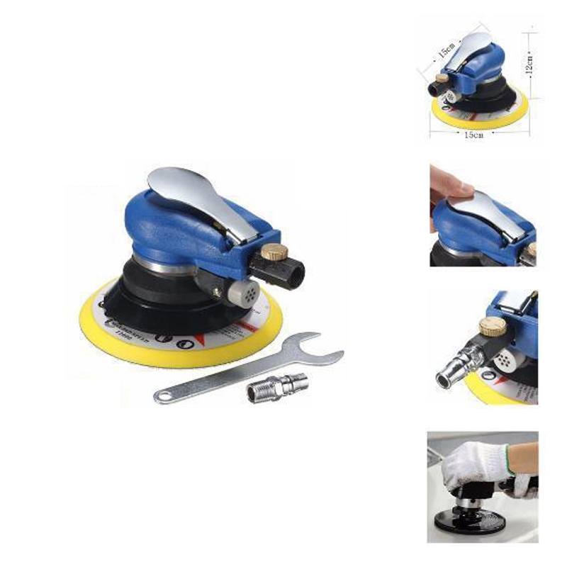 "Promotion  6"" Air Palm al Sander Random Hand Sanding Pneumatic for Grinding Operations