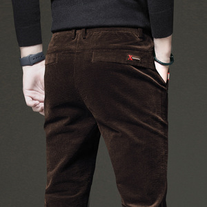 Мужские вельветовые брюки ICPANS, повседневные брюки-карандаш с эластичной талией в Корейском стиле на зиму, 2020