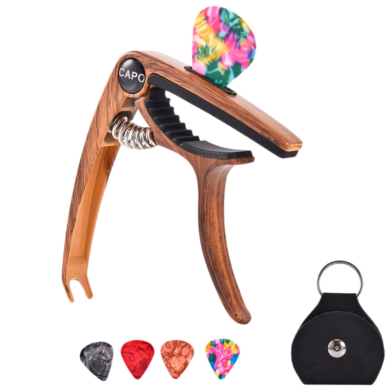 Guitar Capo For 6/12 String Acoustic And Electric Guitars Bass Ukulele Mandolin Banjo With Picks And Picks Holder