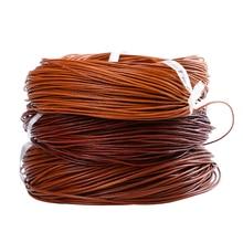 50 Meter Dia 1.5/2/3/4 Mm Natuurlijke Kleur Echt Lederen Koord Ronde Touw String voor Diy Ketting Armband Sieraden Cord