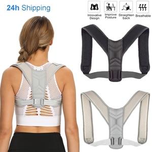 Dropshipping Medical Back Posture Corrector Belt Adjustable Clavicle Spine Back Shoulder Lumbar Posture Correction Men Woemen
