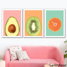 Kiwi Avocado Orange Fruit Wall Art Canvas Painting Posters And Prints Nordic Poster Pictures For Living Room Home Decor
