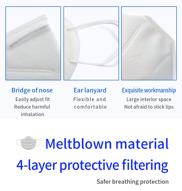 KN95 Dust Mask Protective Anti-Dust Masks Mouth Face Mask Protection Face Mouth Mask 95% Filtration Anti Fog Gas Flu In Stock 2