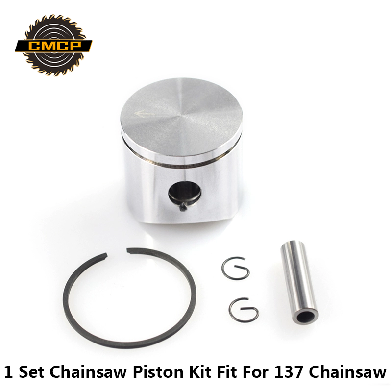 1 Set 38mm Chainsaw Piston Kit With Piston Rings Cylinder Piston Kit Fit For 137 Chainsaw Piston Set Chainsaw Spare Parts