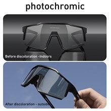 Kapvoe photochromic ciclismo óculos de sol dos homens óculos de proteção da bicicleta mtb estrada à prova vento ciclismo uv400