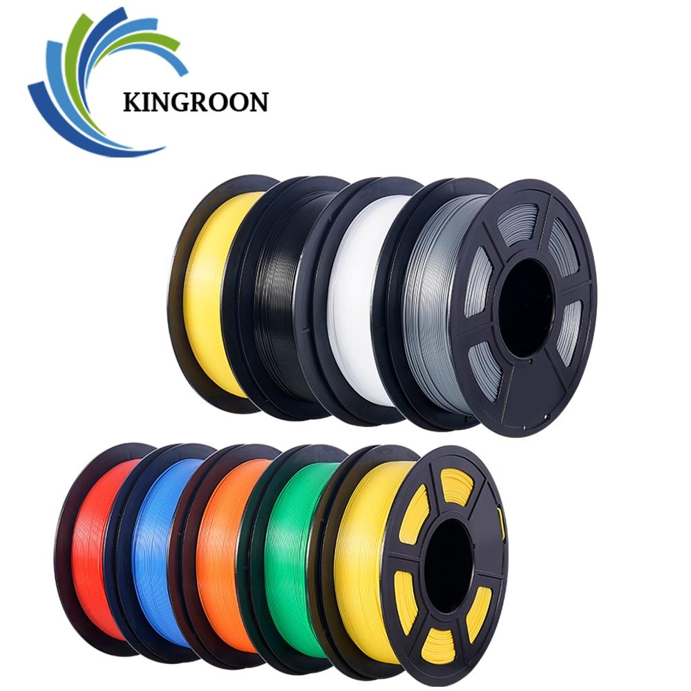 : KingRoon PLA ABS TPU Филамент 1,75 мм 1 кг 2.2lbs 3D Пластик расходные материалы Материал для 3D-принтеры 3D ручка погрешность +/-0,02 провода бобины