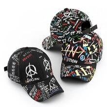 SLECKTON 100% Baumwolle Hip Hop Baseball Cap für Männer und Frauen Casual Graffiti Snapback Hut Unisex Mode Hüte Schirmmützen sommer