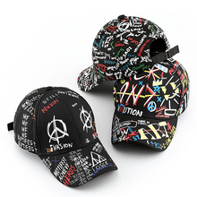Sleckton 100% Katoen Hip Hop Baseball Cap Voor Mannen En Vrouwen Casual Graffiti Snapback Hoed Unisex Mode Hoeden Piekte Caps zomer