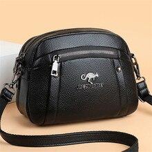 Bandolera de cuero suave para mujer, bolso cruzado informal de diseñador, bolsa de mensajero de Color sólido Simple, monedero pequeño, 2021