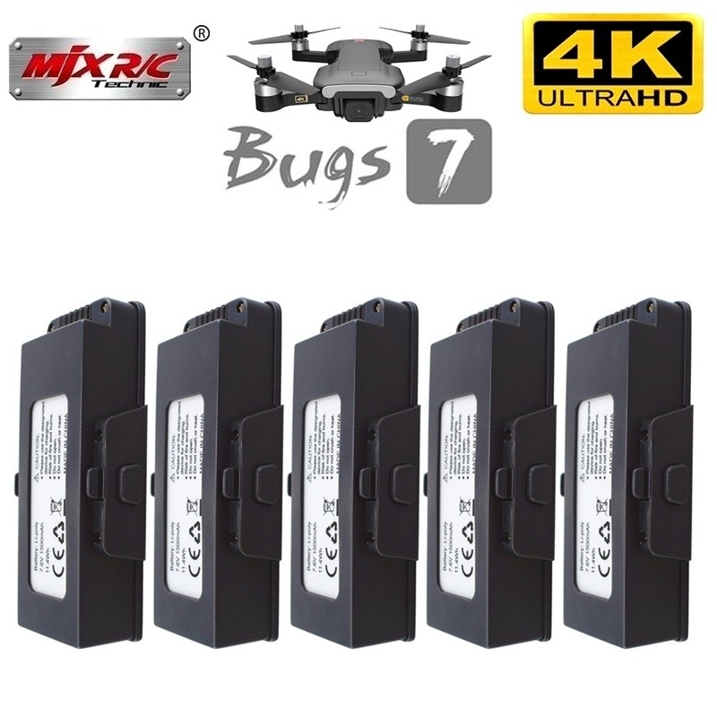 Original MJX B7 battery <font><b>7</b></font>.6V <font><b>1500mAh</b></font> Drone battery for MJX bugs <font><b>7</b></font> B7 4K drone <font><b>7</b></font>.6 <font><b>V</b></font> 1500 mAh Battery Accessories 1/2/<font><b>3</b></font>/5/10Pcs image